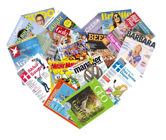 Herz aus Zeitschriften